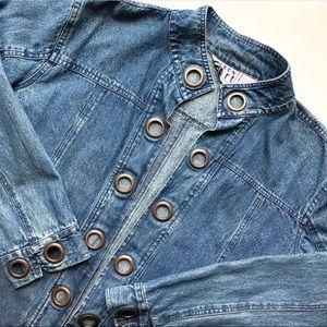 Vintage Grommet Denim Jacket